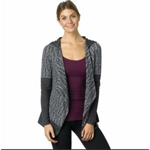Prana Cardigan Sweater open front hooded